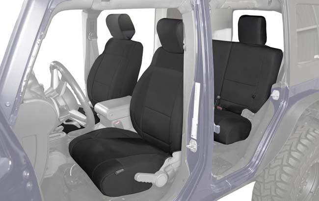 Overland Vehicle System 11010501 Neoprene Seat Covers Black|Black Jeep Wrangler JK 4 Door 2007