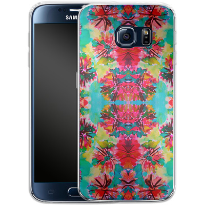 Samsung Galaxy S6 Silikon Handyhuelle - Tropical Floral von Amy Sia