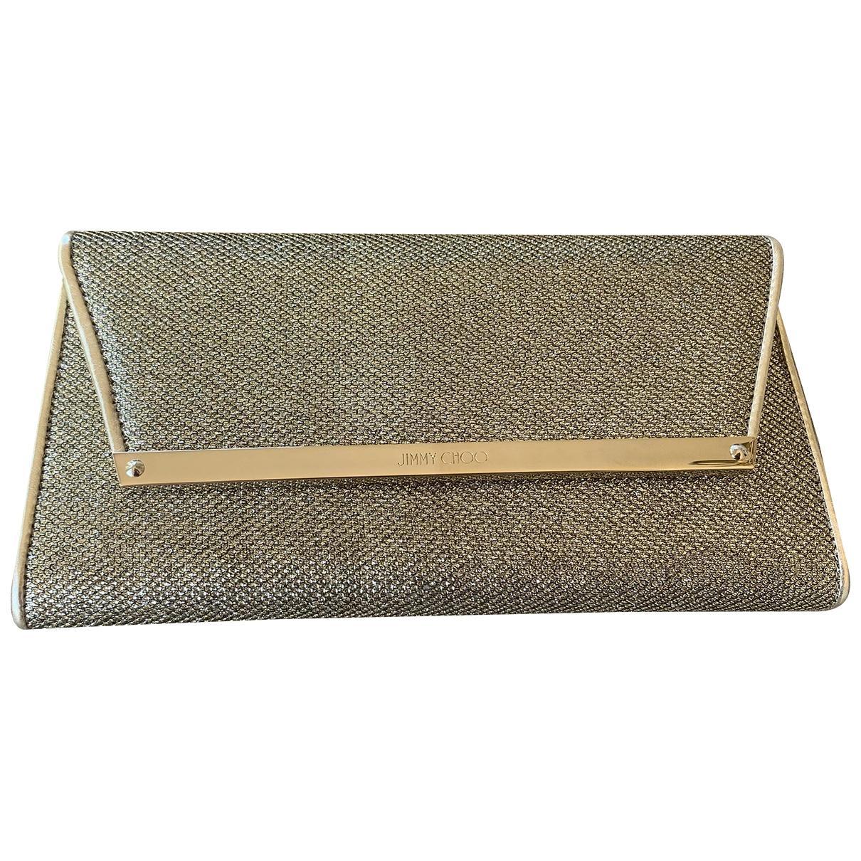 Jimmy Choo \N Gold Glitter Clutch bag for Women \N