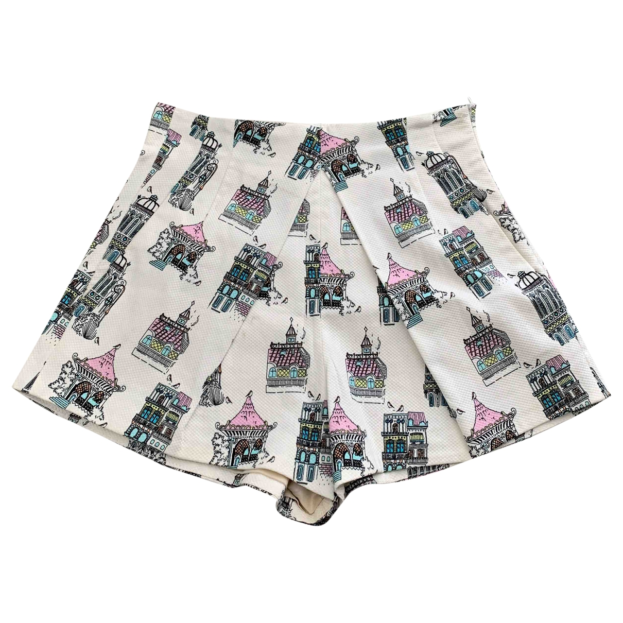 Dondup \N Shorts in  Weiss Polyester
