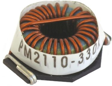 Bourns , PM2110, 2110 Wire-wound SMD Inductor with a Iron Core, 27 μH ±10% Wire-Wound 8.2A Idc