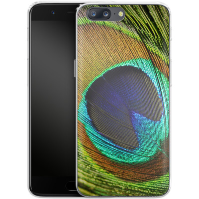 OnePlus 5 Silikon Handyhuelle - Peacock von Mark Ashkenazi