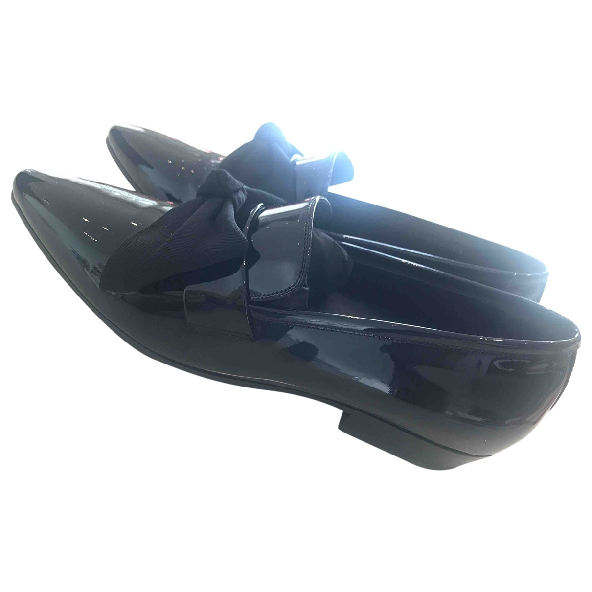 Saint Laurent \N Black Patent leather Flats for Women 38 EU