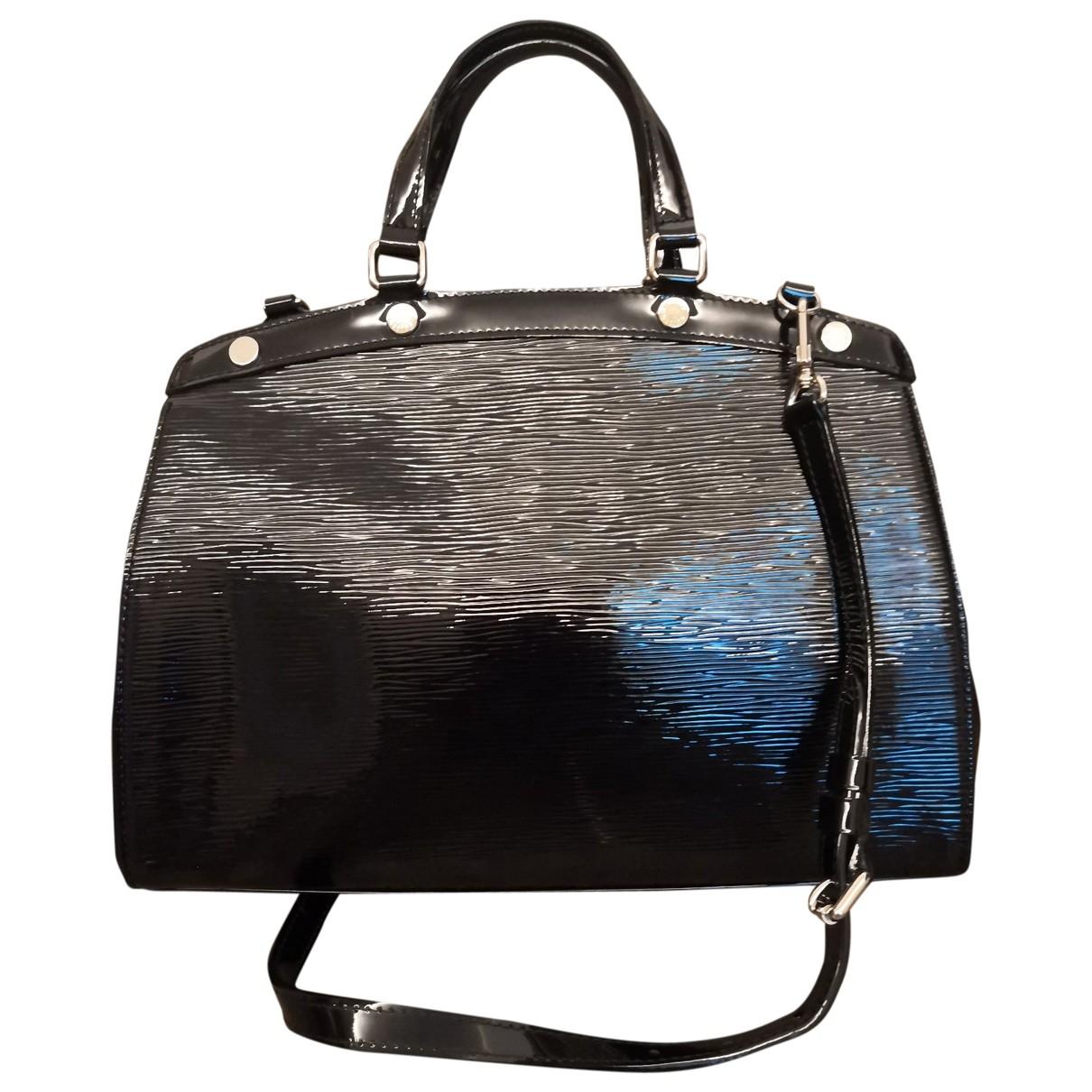 Louis Vuitton - Sac a main Brea pour femme en cuir verni - noir