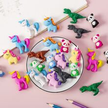 10pcs Cartoon Design Random Eraser