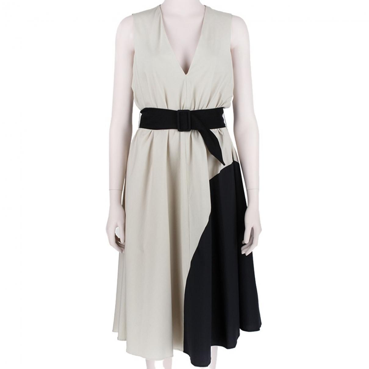 Martin Grant \N Kleid in  Khaki Baumwolle