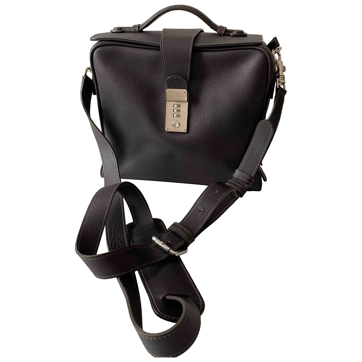 Non Signé / Unsigned \N Brown Leather handbag for Women \N