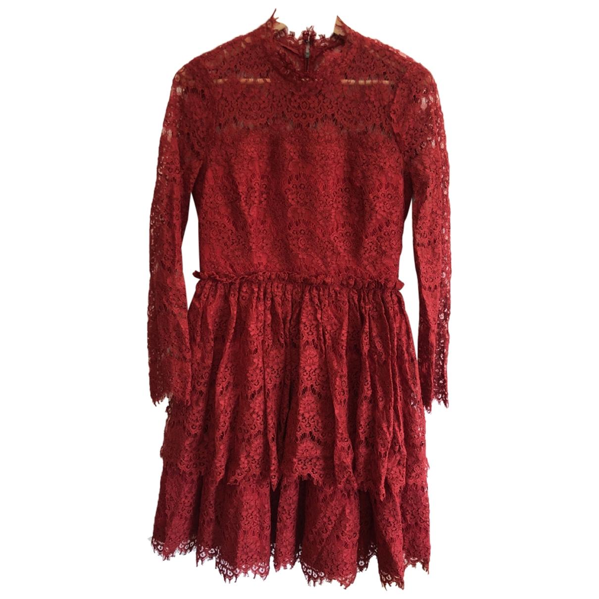 Lanvin \N Kleid in  Rot Spitze