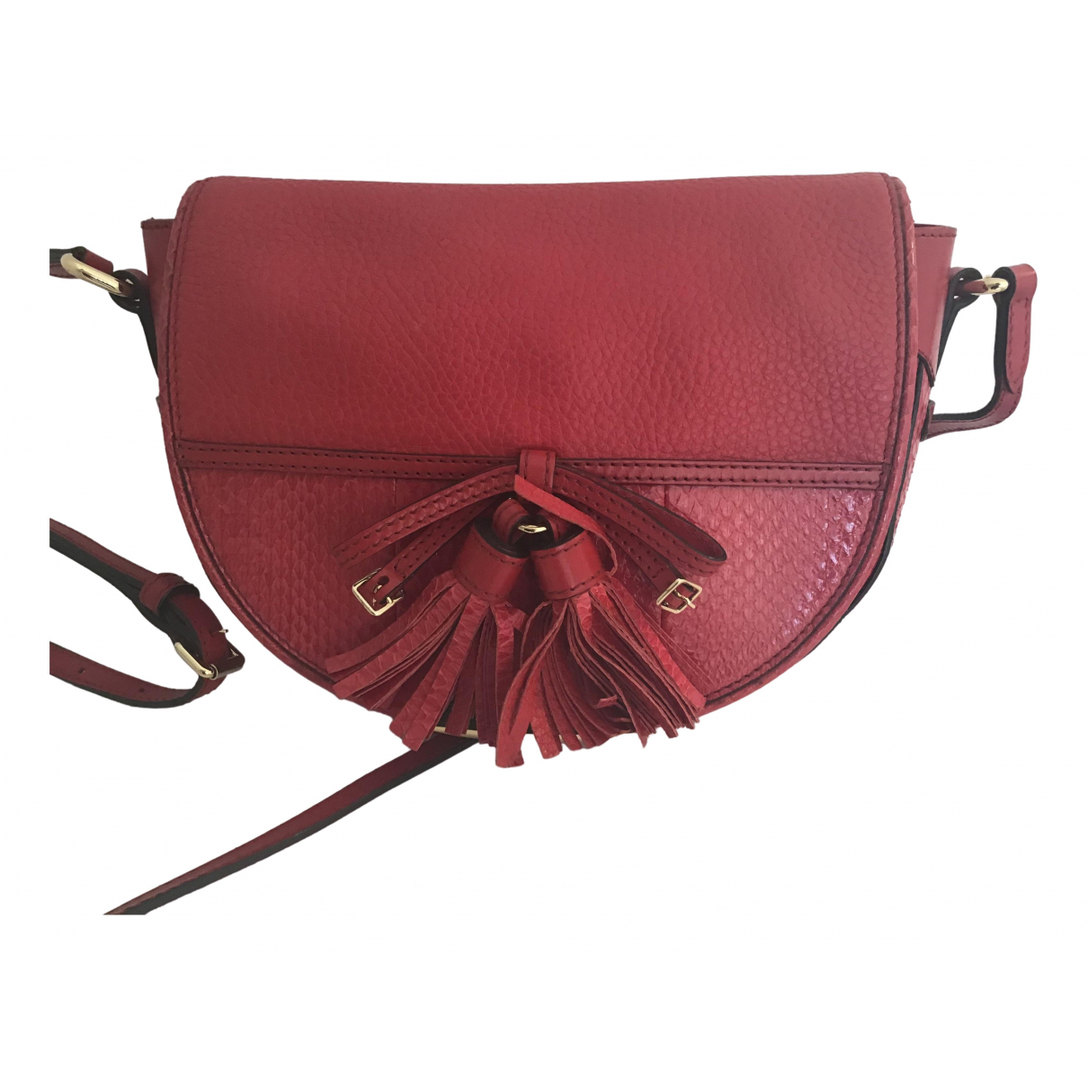 Burberry \N Red Leather handbag for Women \N