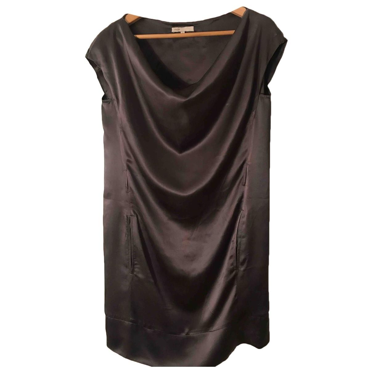 Maje \N Kleid in  Grau Seide