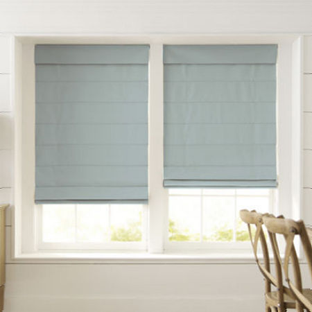 Home Expressions Dover Cordless Roman Shade - FREE SWATCH, One Size , Blue