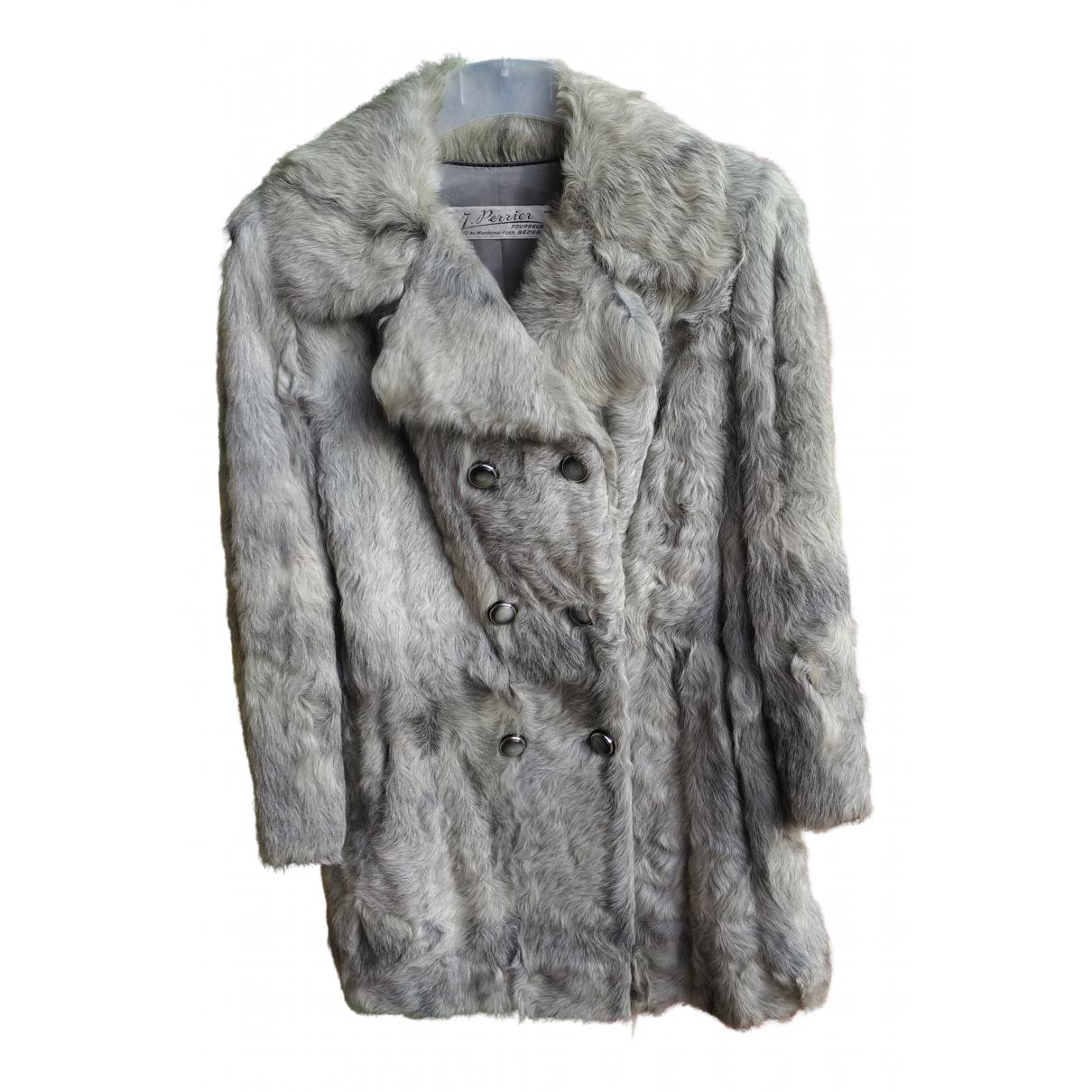 - Manteau   pour femme en fourrure - gris