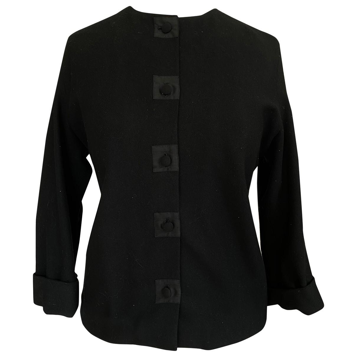 - Veste   pour femme en laine - noir