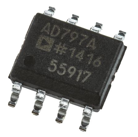 Analog Devices AD797ARZ , Op Amp, 450MHz, 8-Pin SOIC