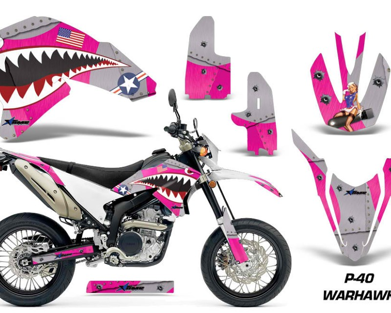 AMR Racing Dirt Bike Decal Graphics Kit Wrap For Yamaha WR250R WR250X 2007-2016áWARHAWK PINK