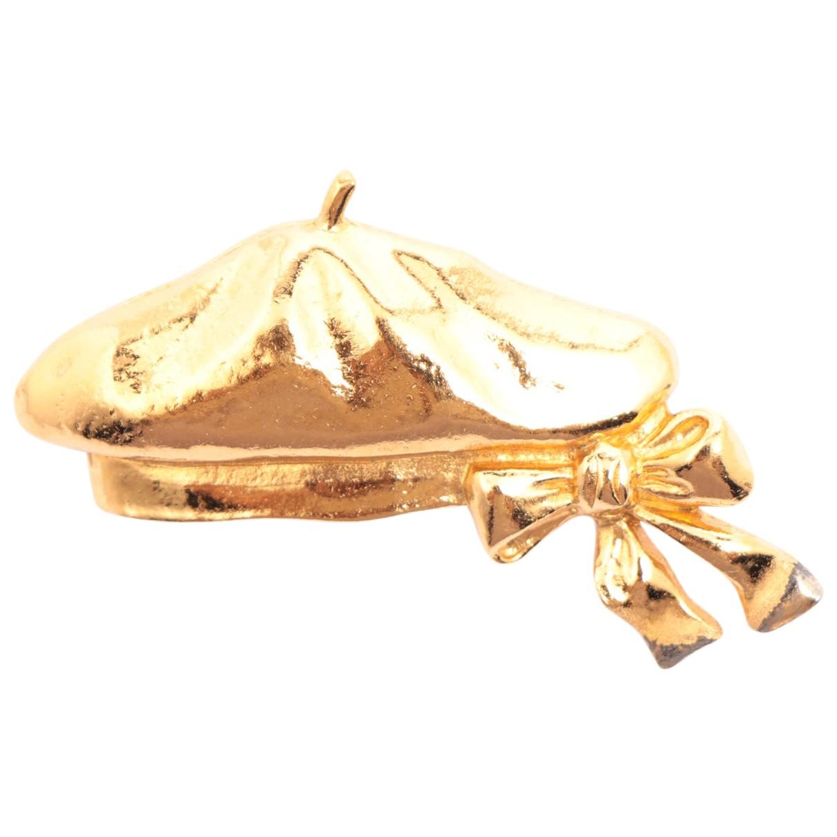 Chanel - Broche   pour femme en plaque or - dore