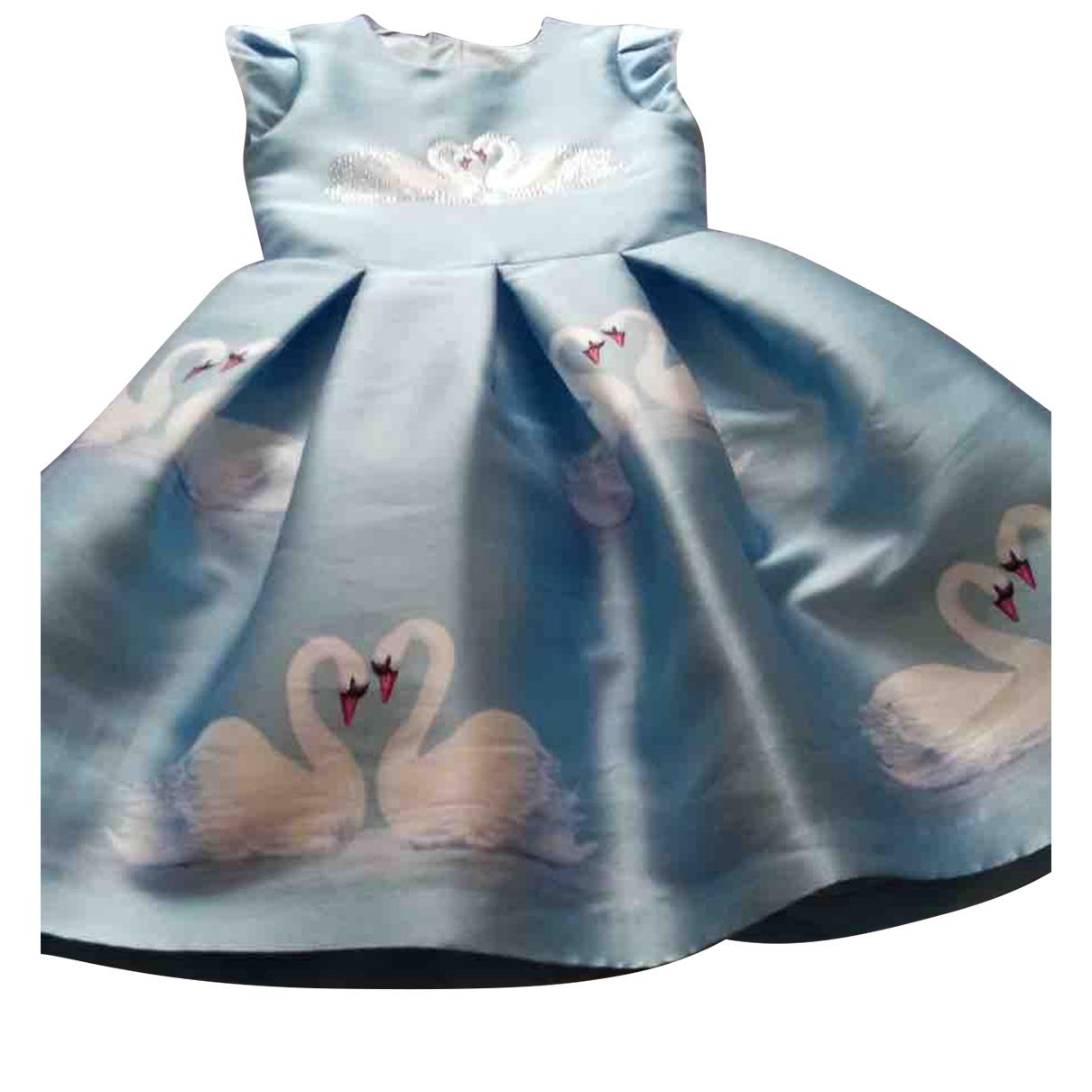 Petite Mendigote - Robe    pour enfant en coton - bleu