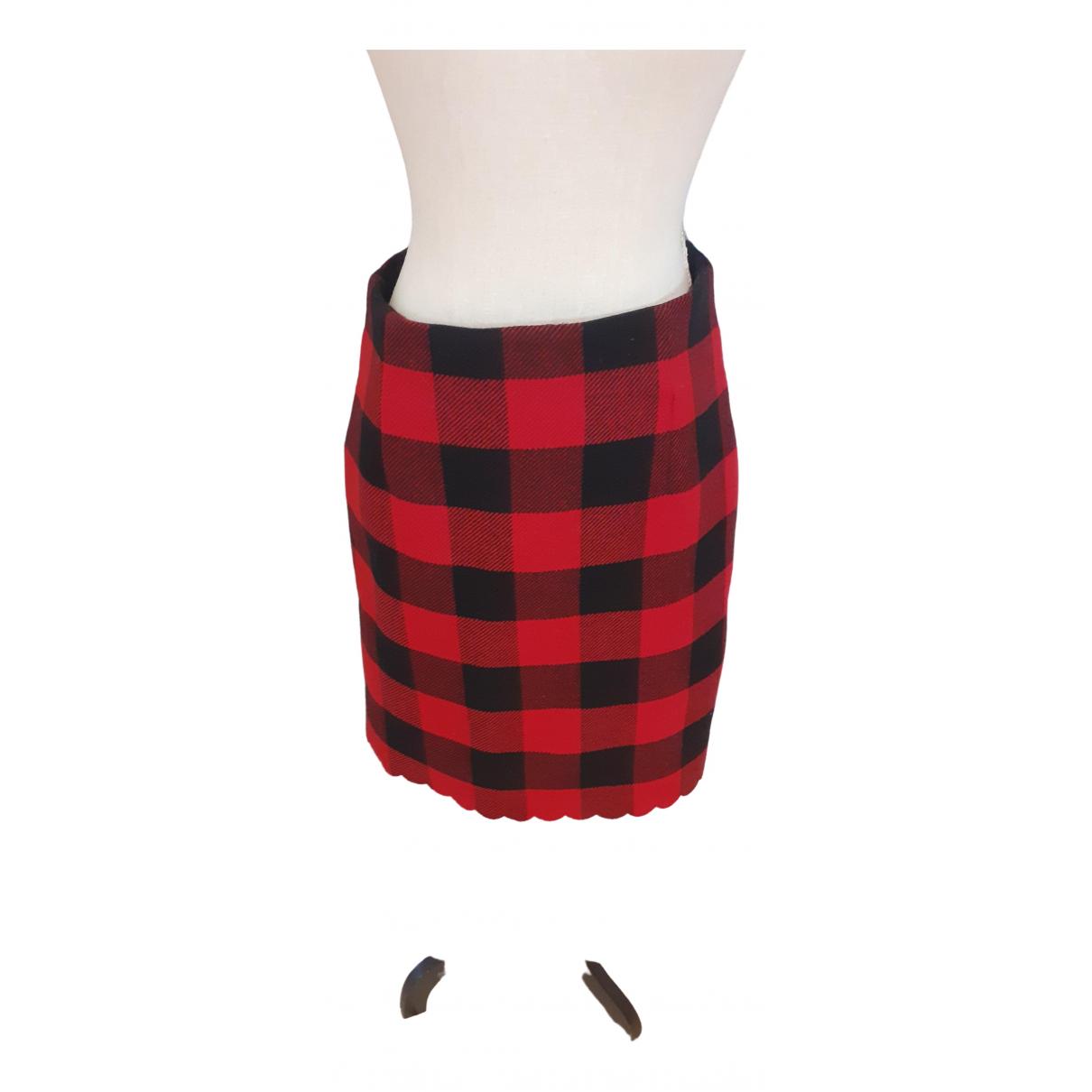 Pinko - Jupe   pour femme en laine - rouge