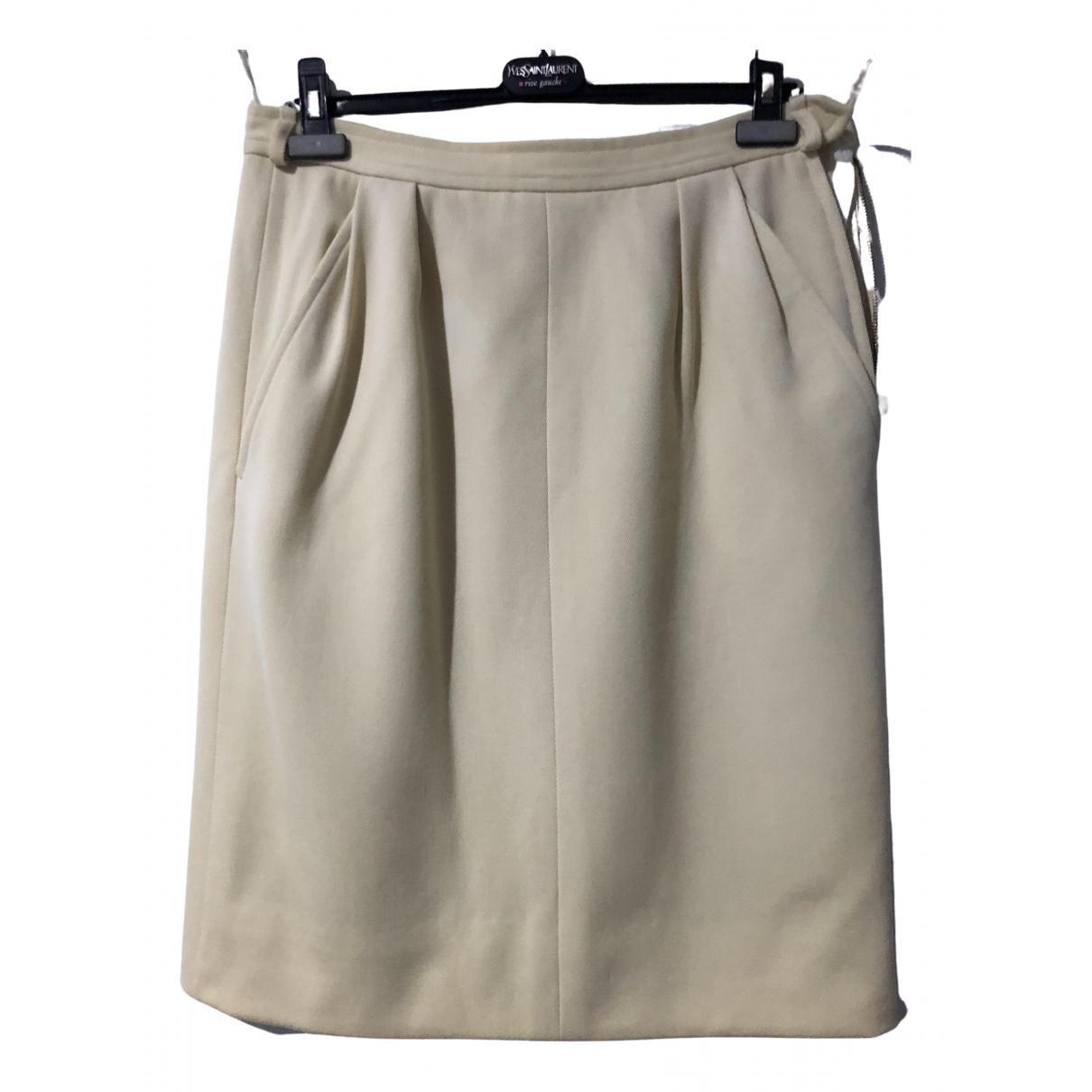 Yves Saint Laurent \N Beige Cotton skirt for Women 44 FR
