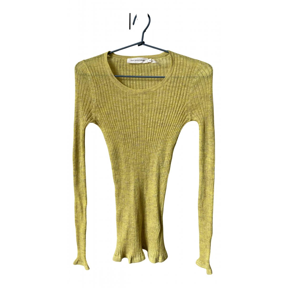 Isabel Marant Etoile - Pull   pour femme en lin - jaune