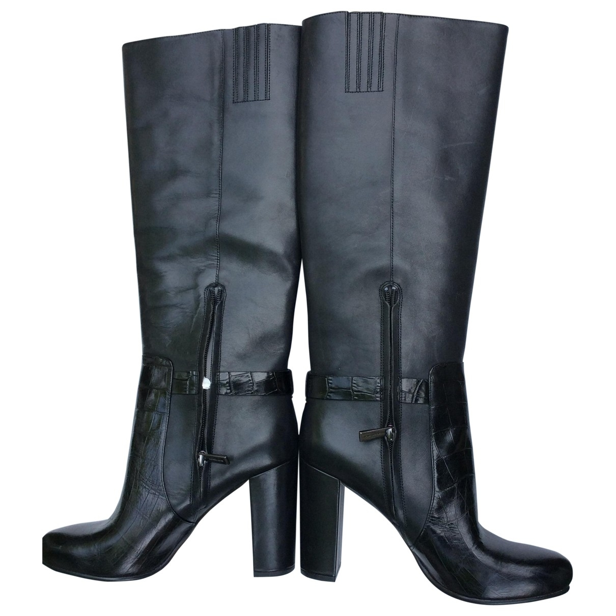 Michael Kors \N Black Leather Boots for Women 8.5 US