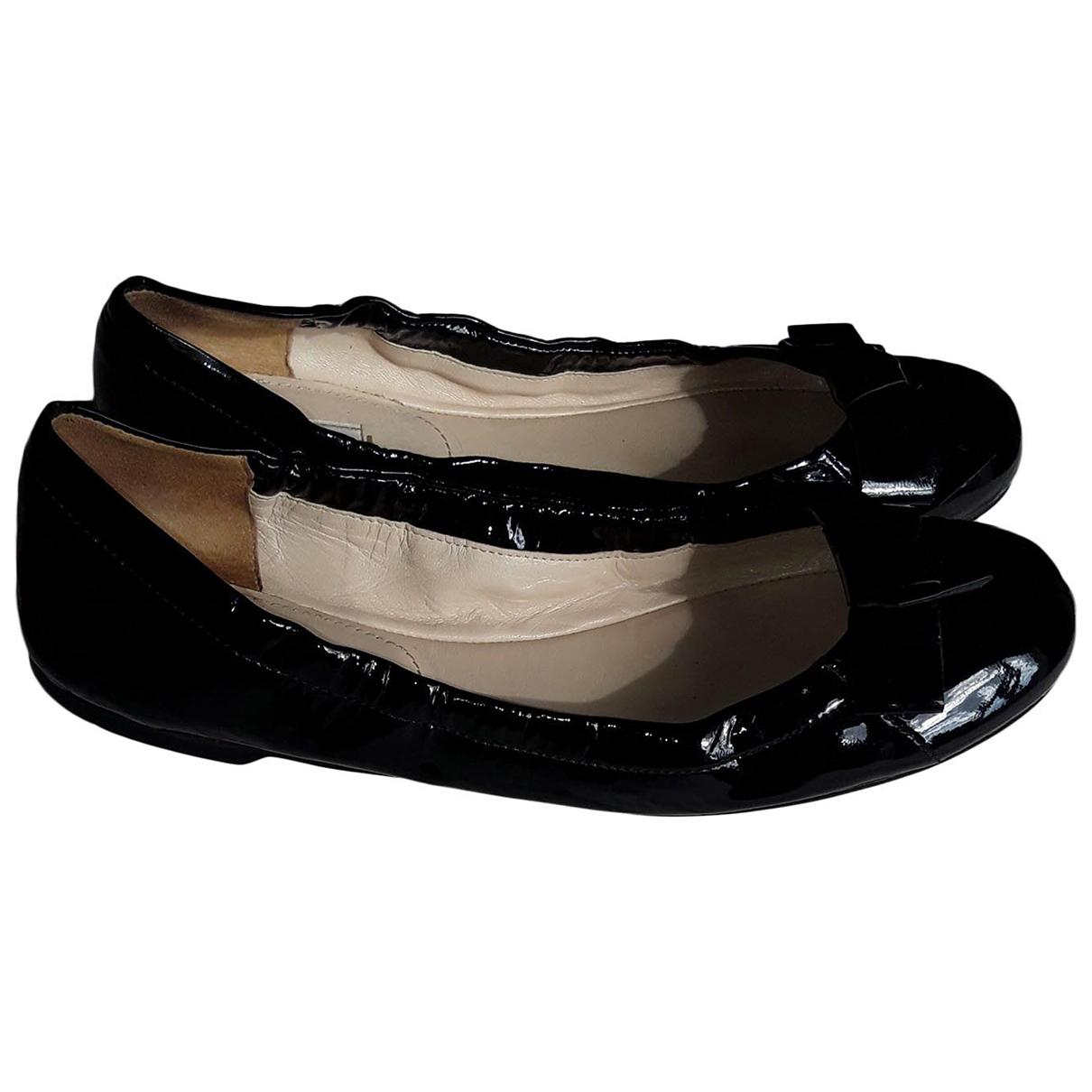 Prada \N Black Patent leather Ballet flats for Women 39.5 EU