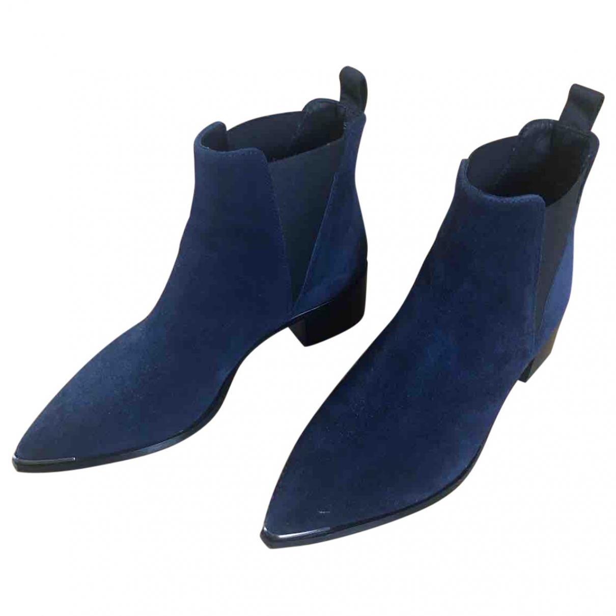 Acne Studios Jensen / Jenny Navy Suede Boots for Women 36 EU