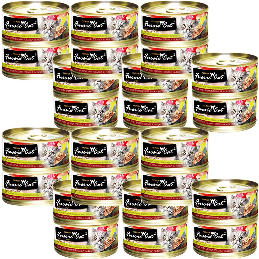 Fussie Cat Tuna and Salmon Formula in Aspic (24x2.8 oz)