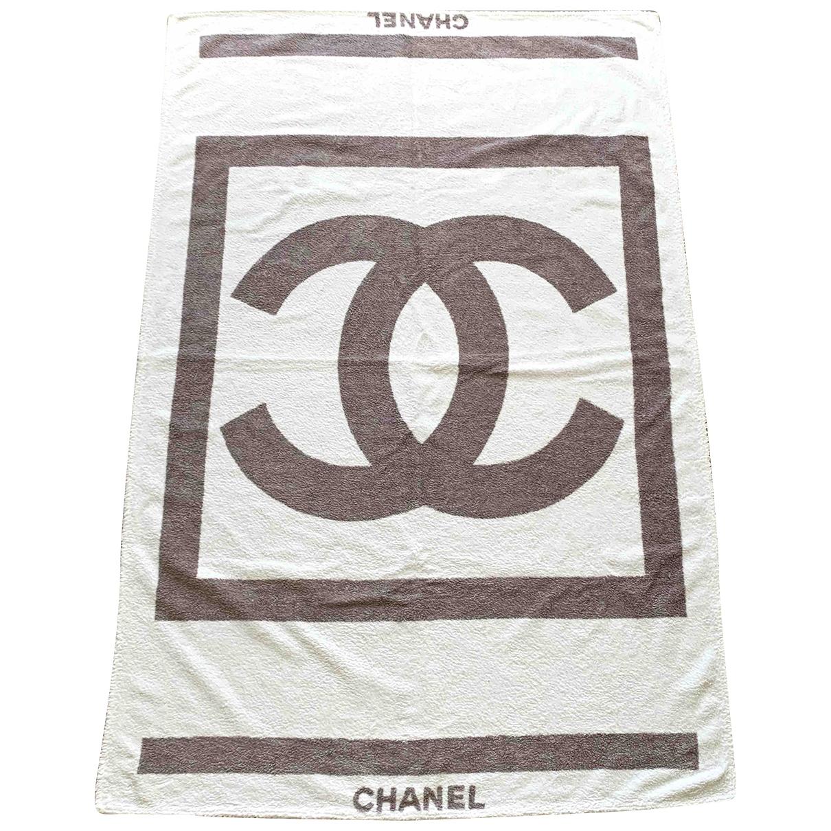 Chanel - Linge de maison   pour lifestyle en coton - blanc