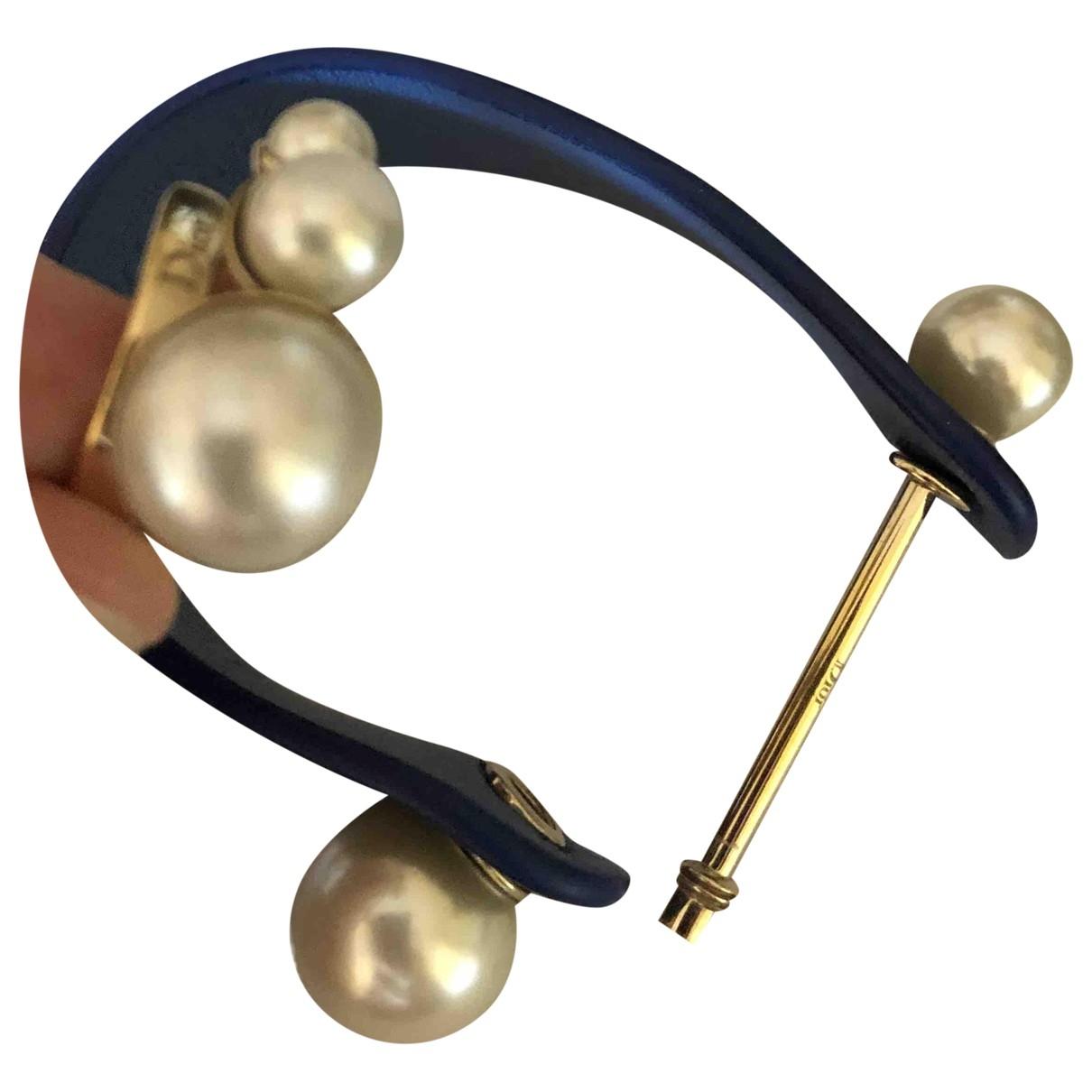Dior - Bague Perles pour femme en metal - ecru