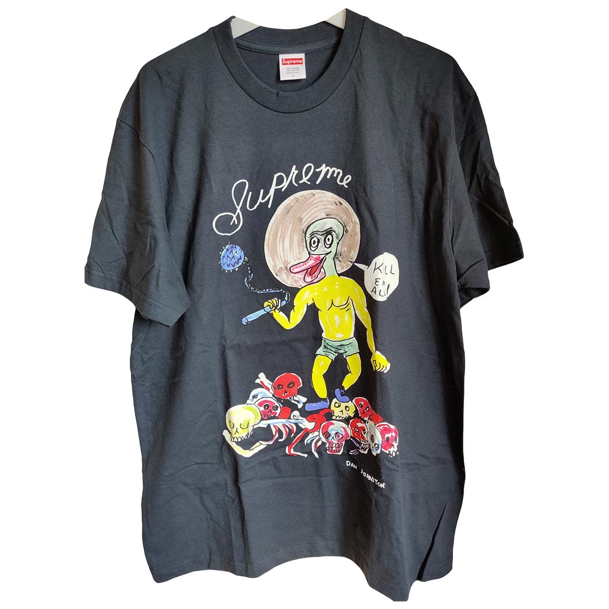 Supreme \N Navy Cotton T-shirts for Men L International