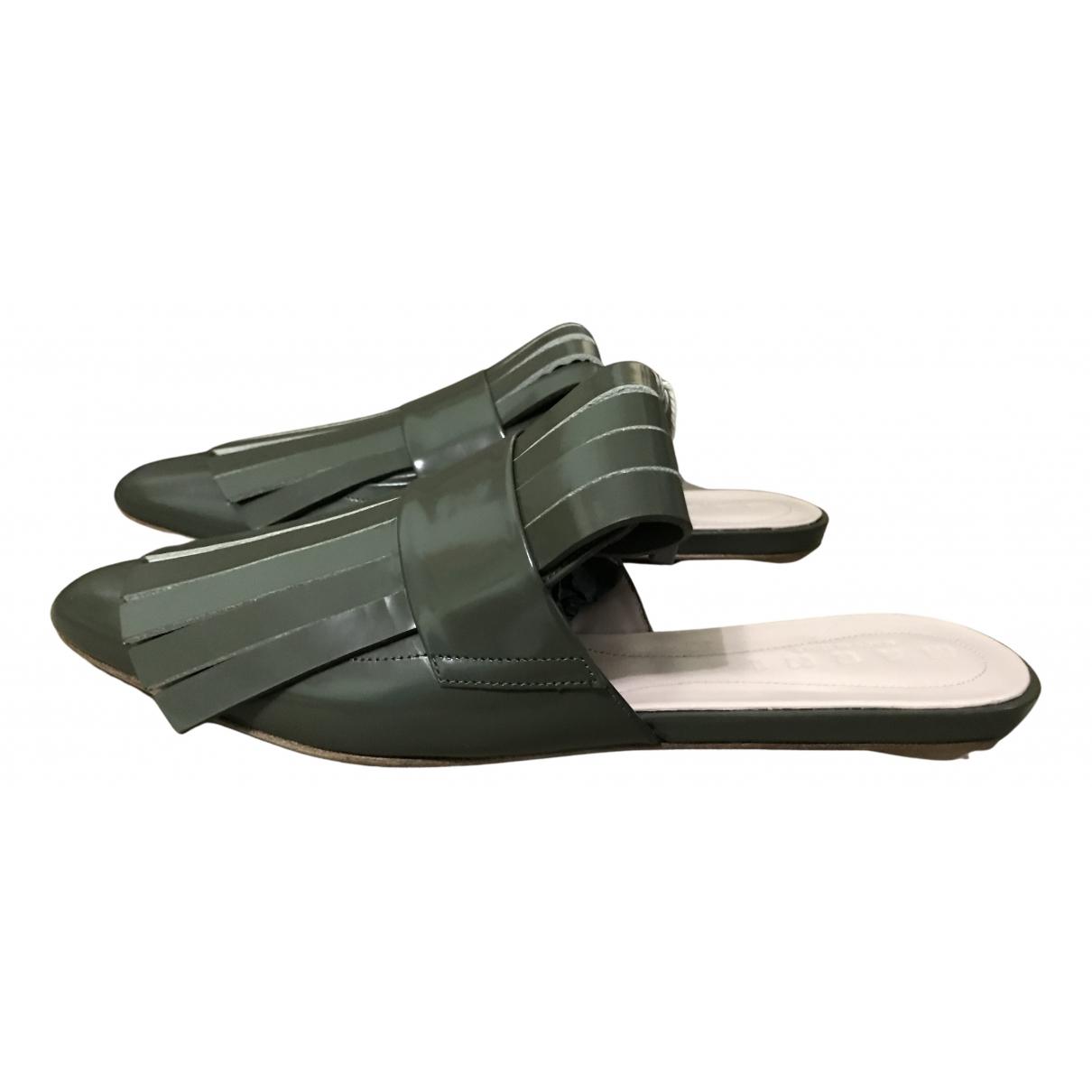 Marni - Sandales   pour femme en cuir - vert