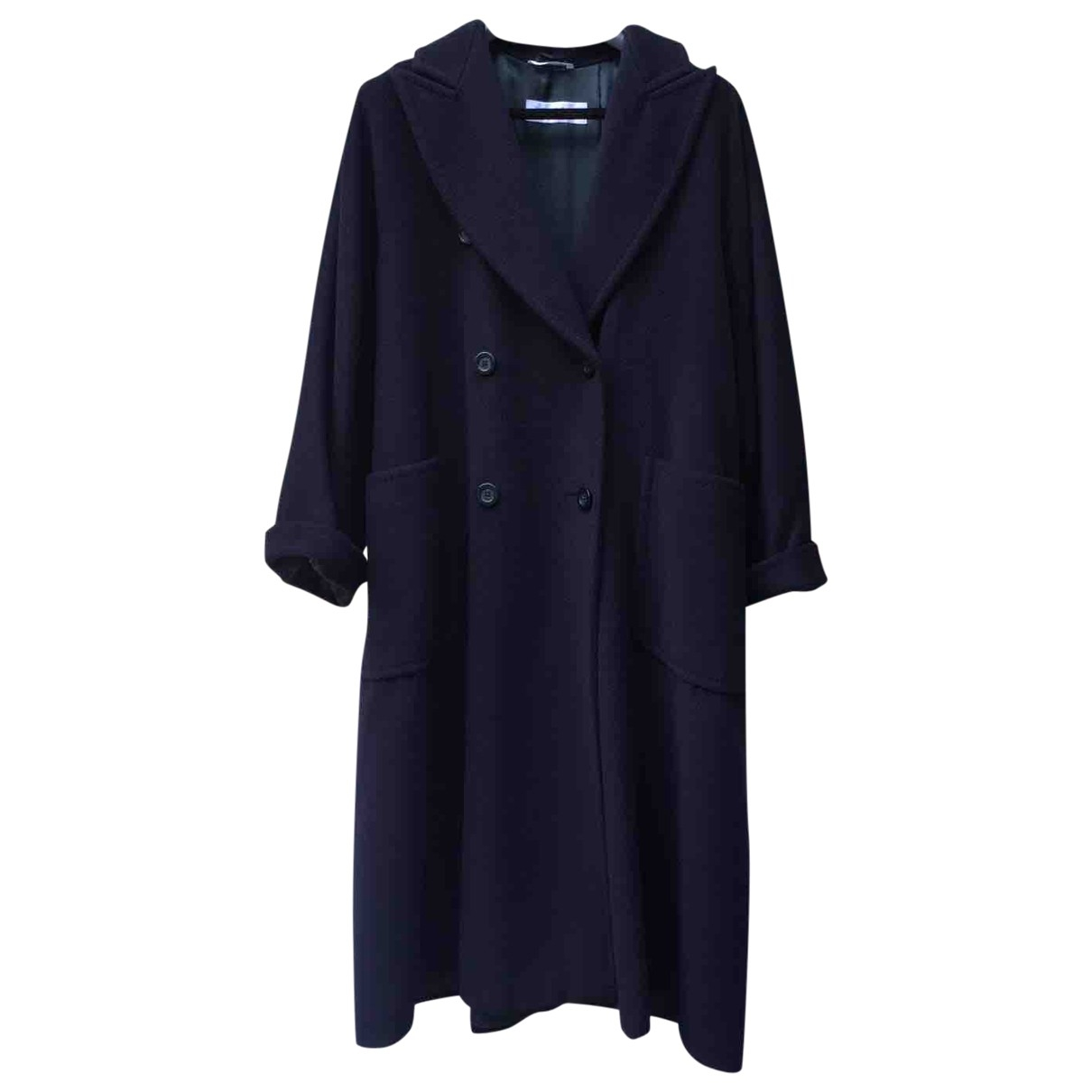 Max Mara Max Mara Atelier Blue Wool coat for Women 40 IT