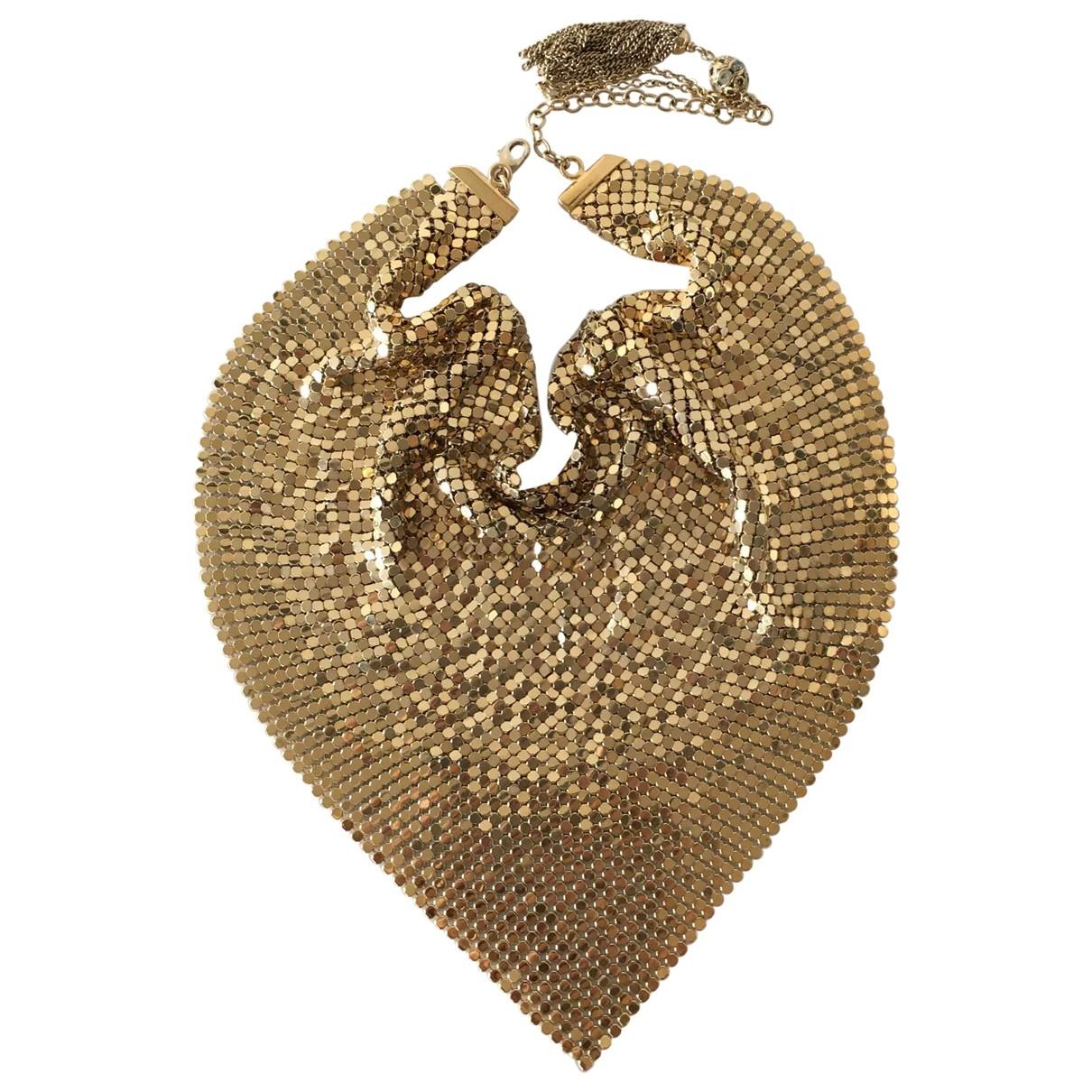 Azzaro - Collier   pour femme en plaque or - dore