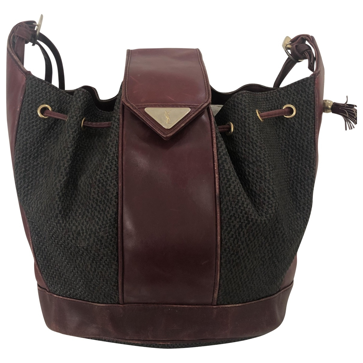 Yves Saint Laurent \N Burgundy Cloth handbag for Women \N