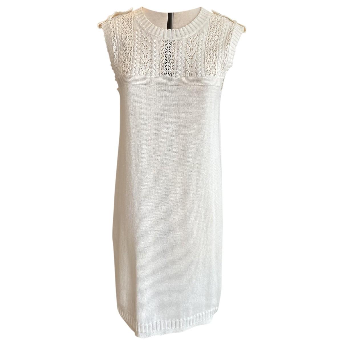 Chanel \N Kleid in  Weiss Baumwolle