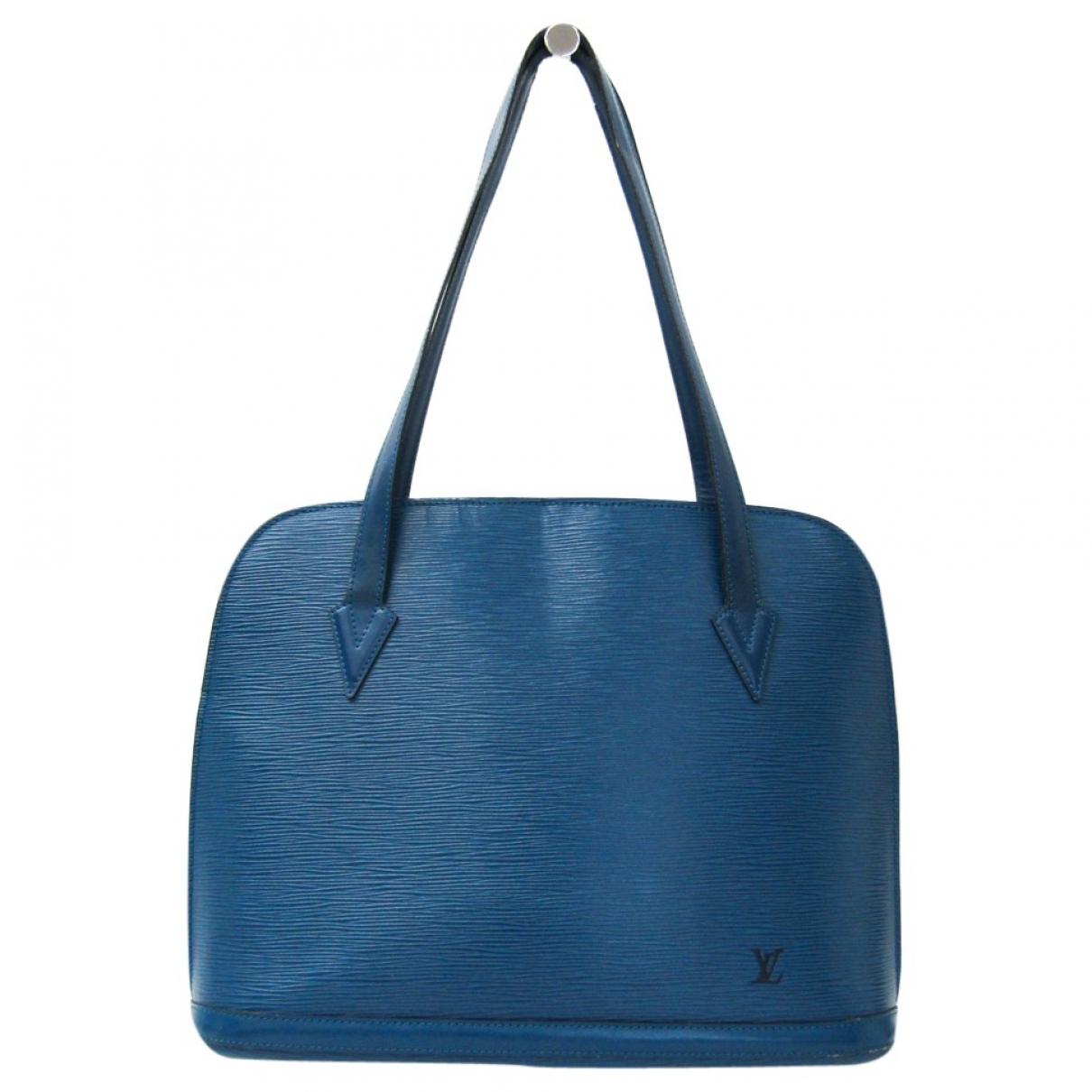 Louis Vuitton Lussac Blue Leather handbag for Women \N