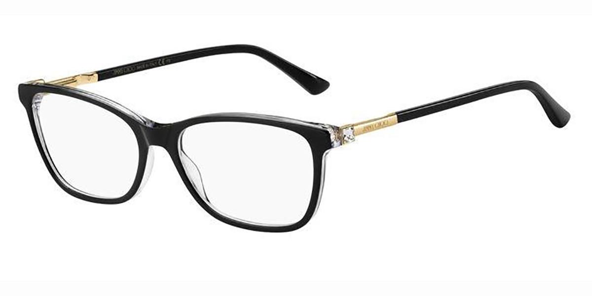 Jimmy Choo JC274 7C5 Women's Glasses Black Size 53 - Free Lenses - HSA/FSA Insurance - Blue Light Block Available