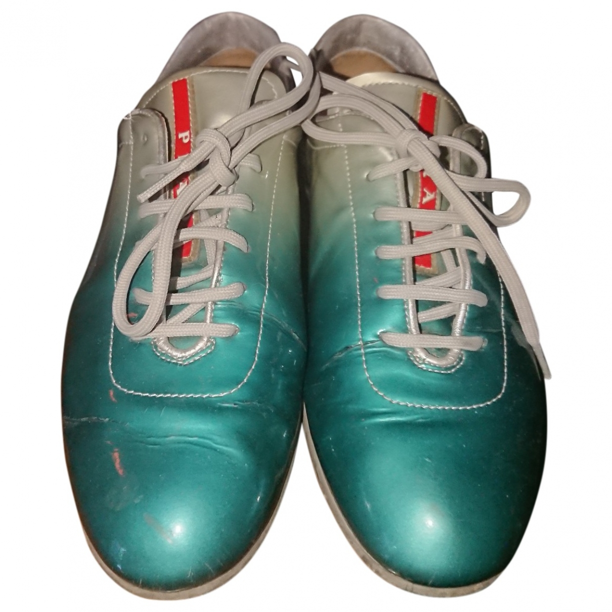 Prada \N Turquoise Patent leather Trainers for Women 39 EU