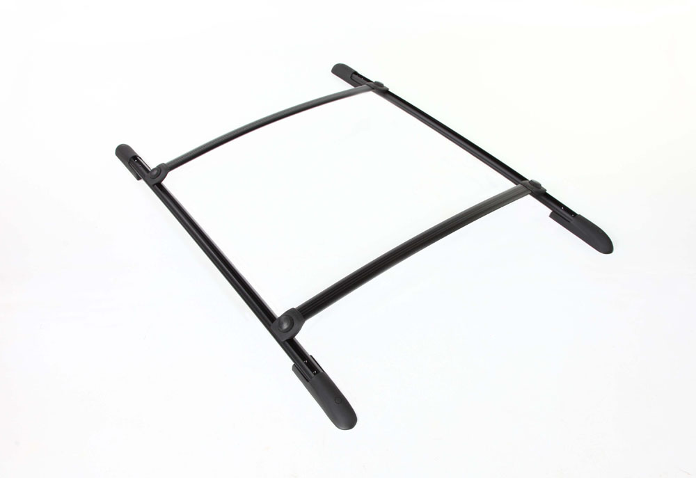 Roof Rack Complete Ready To Install 75 Lb Capacity Kit Black 47 Inch W x 45 Inch Long DynaSport Perrycraft DS4745-B