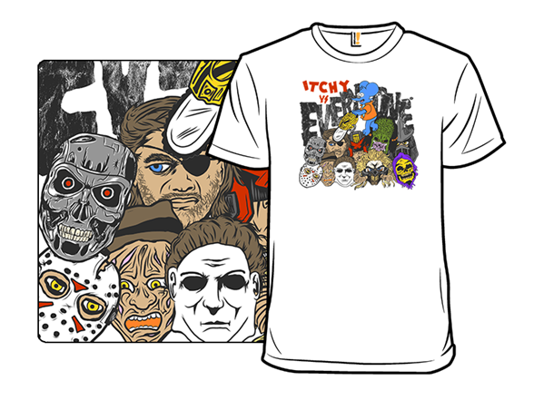 The Simpsons Movie 2: Itchy Vs. Everyone T Shirt