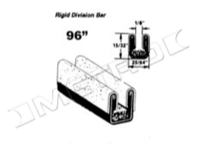 Metro Moulded WC 31-96 Rigid Division Bar Run Channel