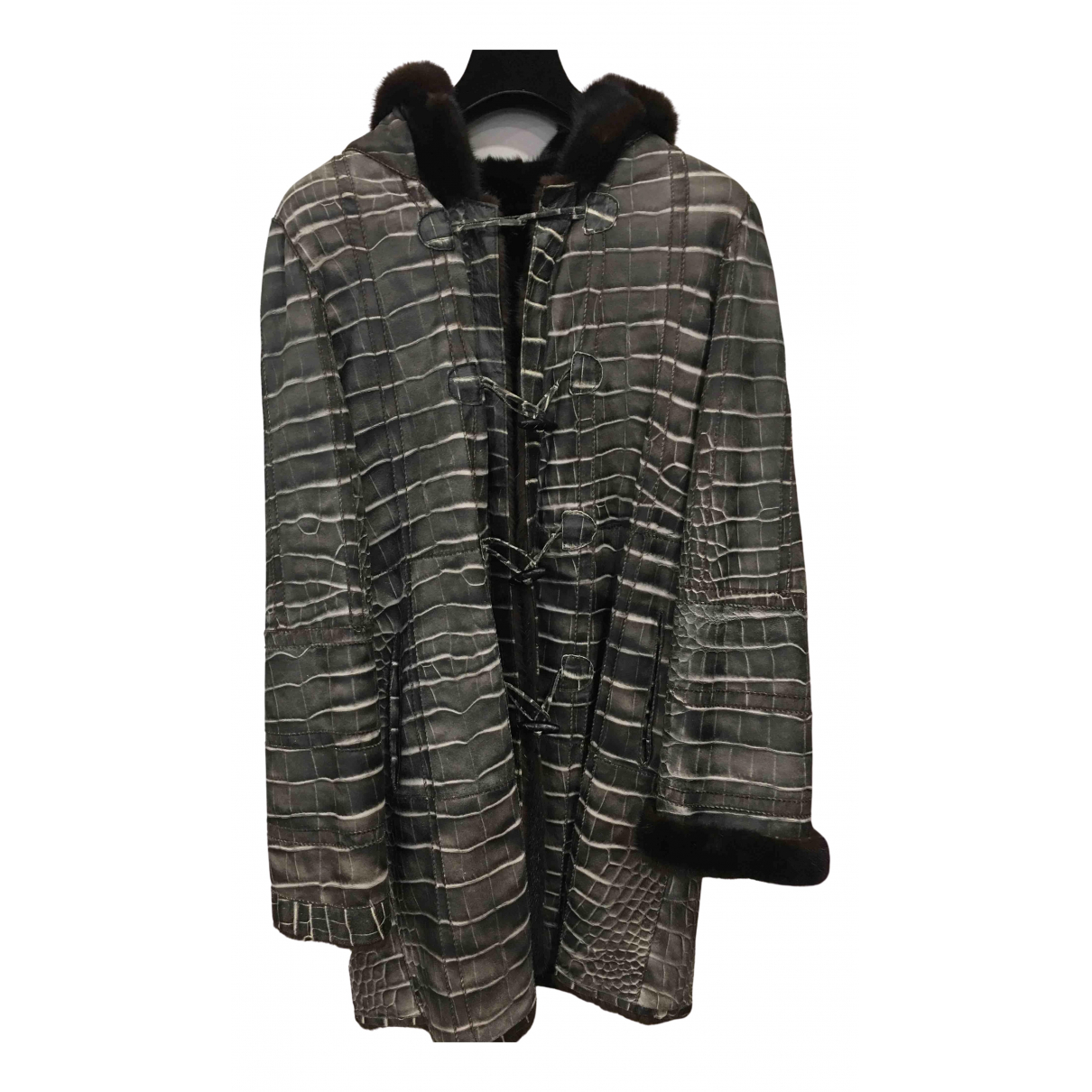 - Manteau   pour femme en vison - noir