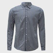 Camisa de guingan con cuello