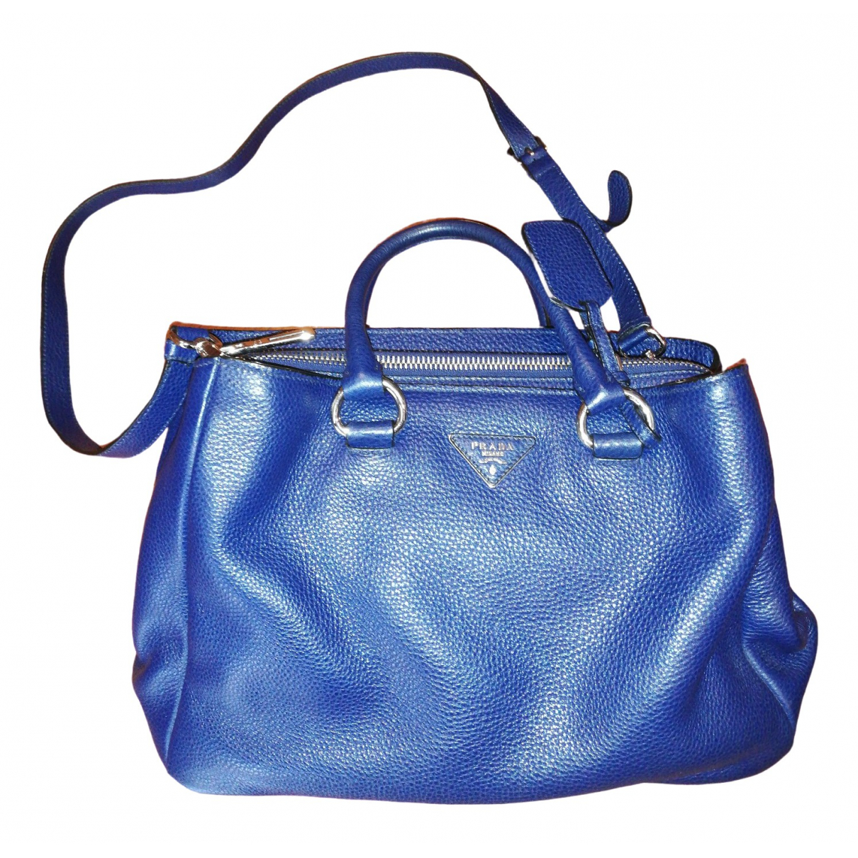 Prada \N Blue Leather handbag for Women \N