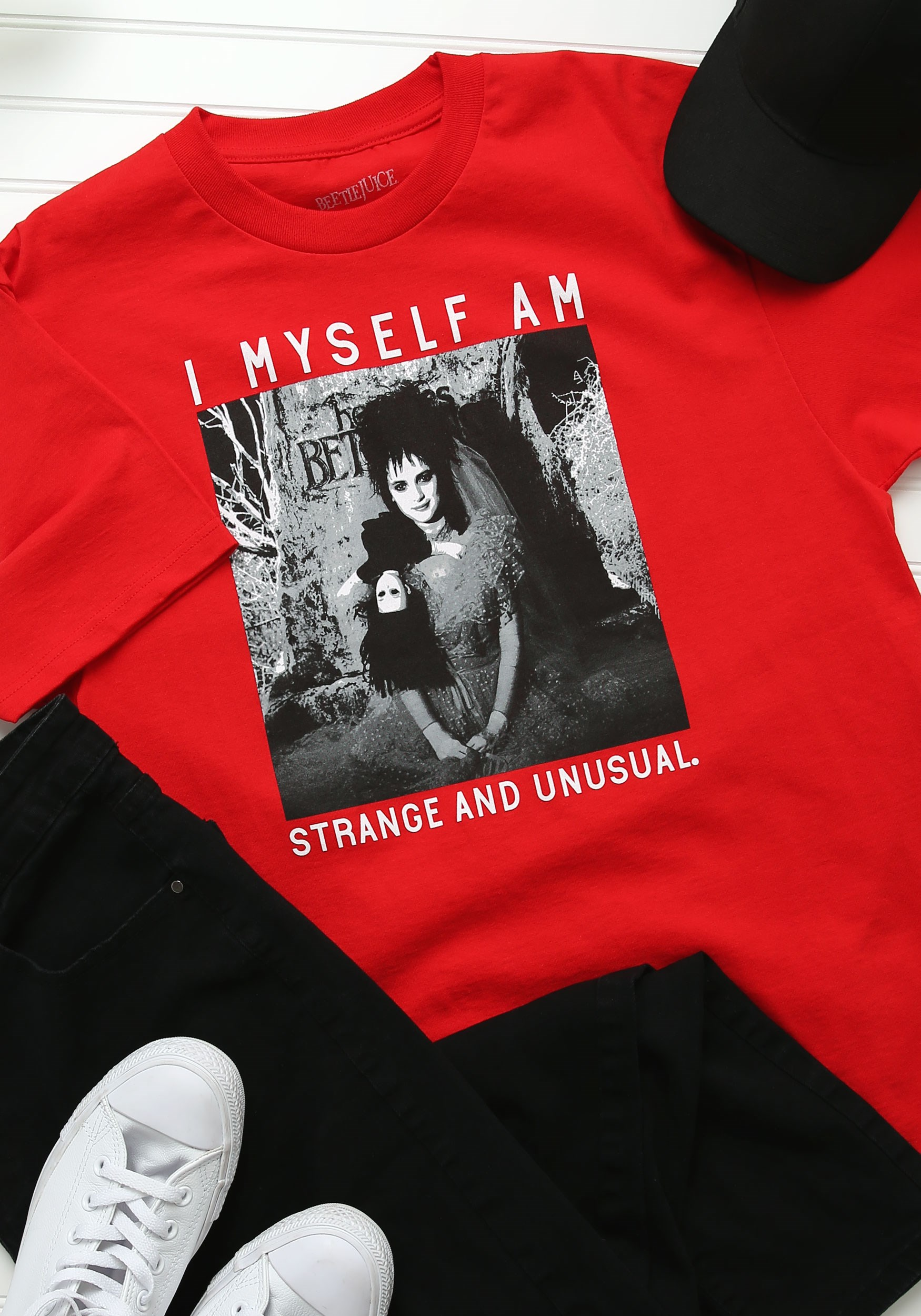 Beetlejuice Lydia Strange and Unusual T-Shirt for Adults
