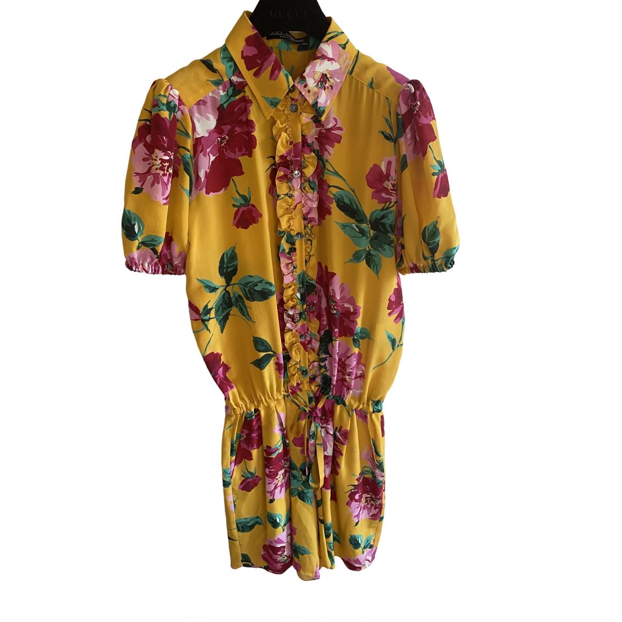 Dolce & Gabbana \N Yellow Silk jumpsuit for Women 40 IT
