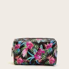 Make-up Tasche mit Blumen Muster