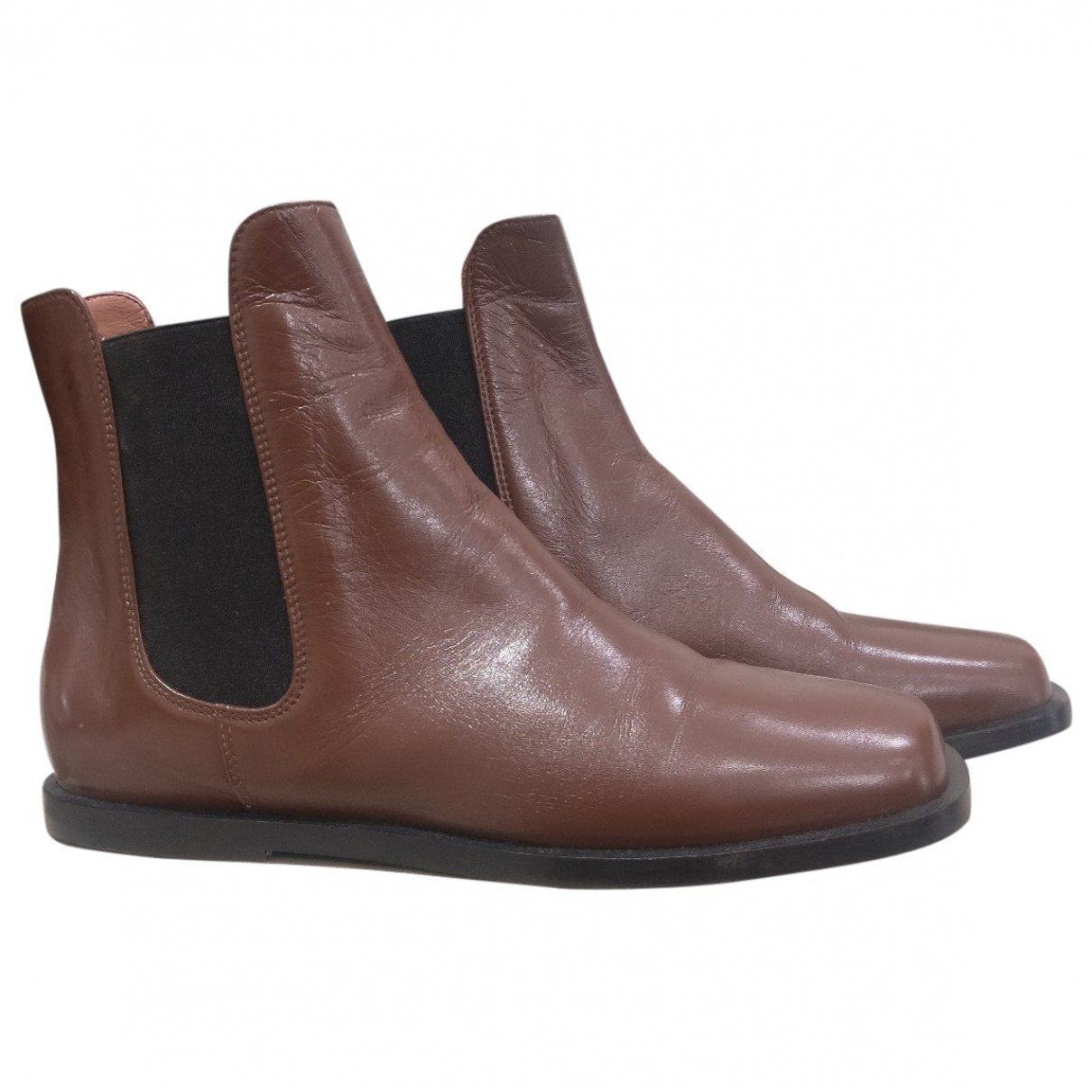 Marni \N Brown Leather Boots for Women 37 EU