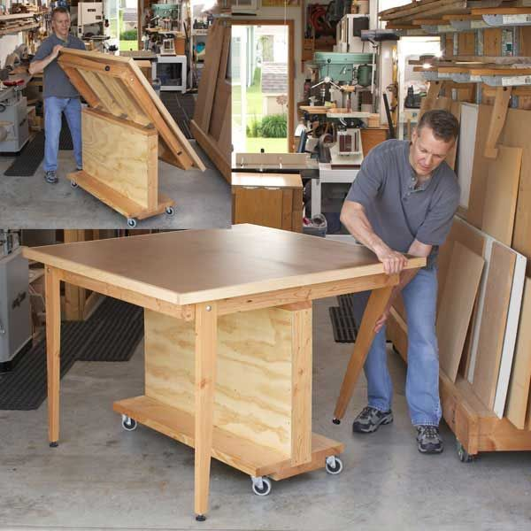 Woodworking Project Paper Plan to Build Fold-Flat 3-in-1 Workbench